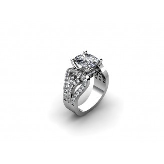 5 CT ROUND DIAMOND RING